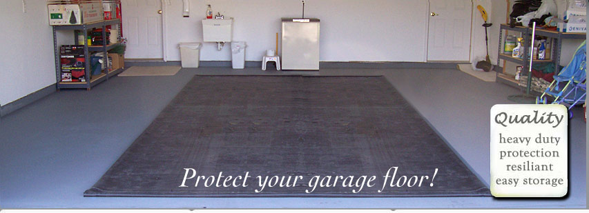 Shelterlogic Garage Floor Mat : Garage floor water containment matttroy